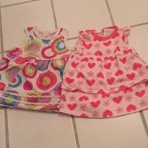 Other - Two cute baby dresses with diaper covers 3-6 month